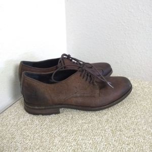 Frye Oscar Brown Leather Oxford Shoes